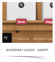 BOOKSHELF SLIDER JQUERY