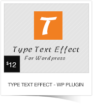 Type Text Effect For WordPress
