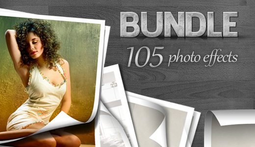 105 Photo Effects For Photoshop – Bundle