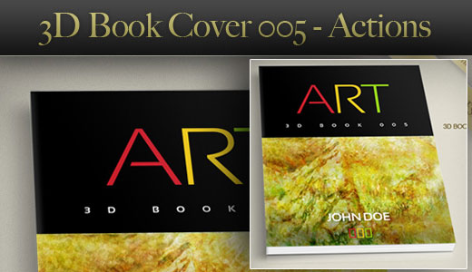 3D Book Mockup Action – Cover 005