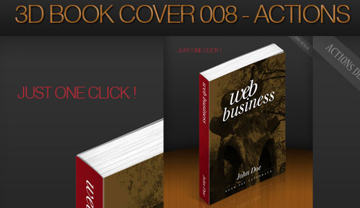 3D Book Cover 008 – Photoshop Actions