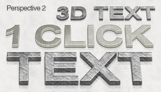 3d Photoshop text action