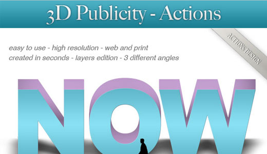 Photoshop Text 3d for Publicity