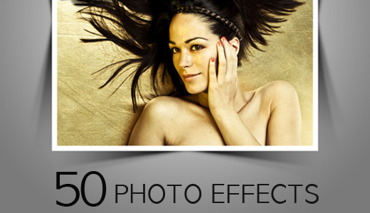 50 Photo Effects Photoshop – Curl & Shadows