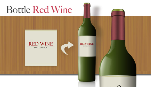 Bottle Red Wine – bottle mockup free