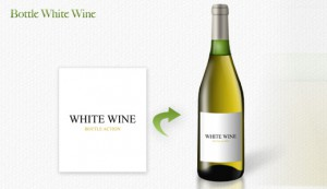 bottle white wine - bottle mockup
