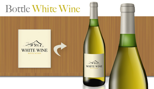 Bottle White Wine – bottle mockup